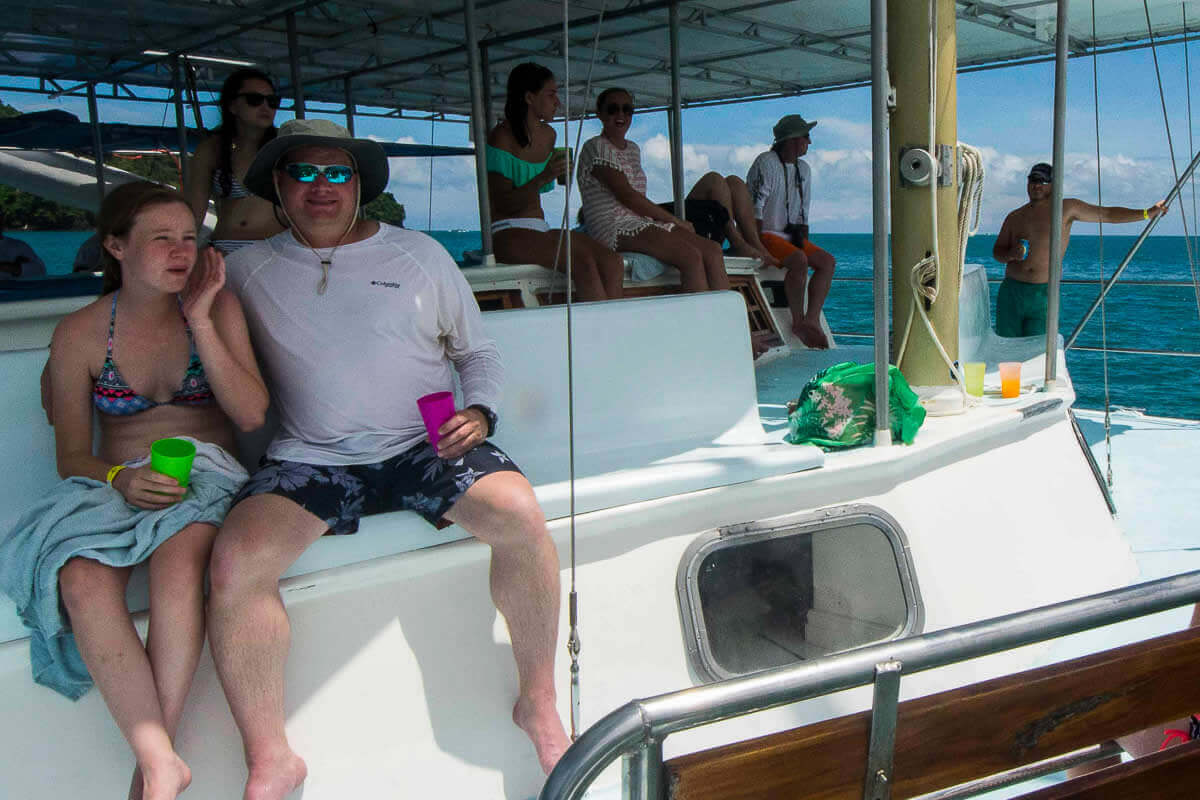 Sailing in Manuel Antonio